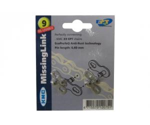 """Maillon Rapide KMC 1/2x11/128"""" CL-566EP pour chaînes 6,6mm, EPT, 9 vitesses"""