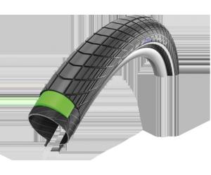 Pneu Schwalbe Big Apple Plus HS430 26x2.15 55-559 protection Greenguard Endurance noir Reflex