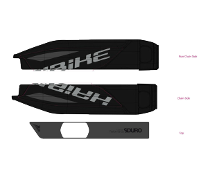 Déco batterie pour Haibike SDURO Noir, noir brillant & gris