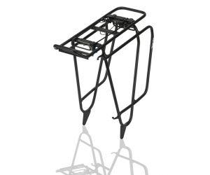 Système Porte-Bagages alu XLC noir, Fatbike, avec fixation p. sacoches