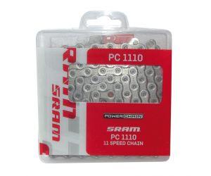 Chaîne de trans.Sram PC-1110 SolidPin 114 maillons, 11 vit. avec Power-Lock